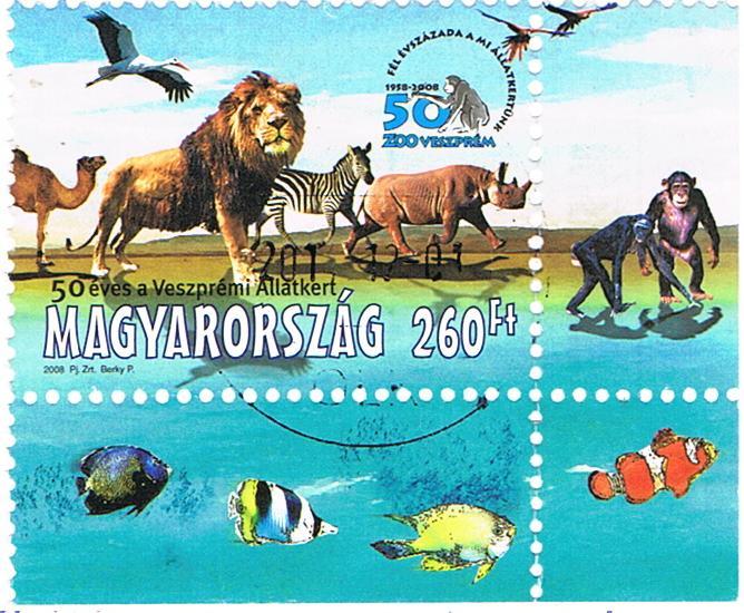 Tierische Briefmarke aus Ungarn