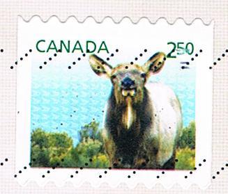 Briefmarke aus Kanada