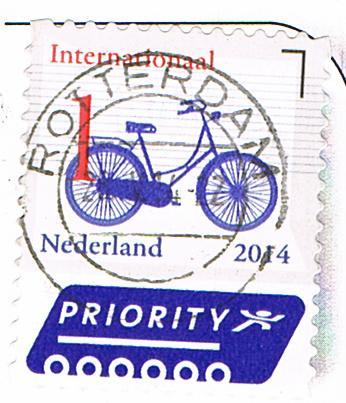 Briefmarke aus den Niederlanden