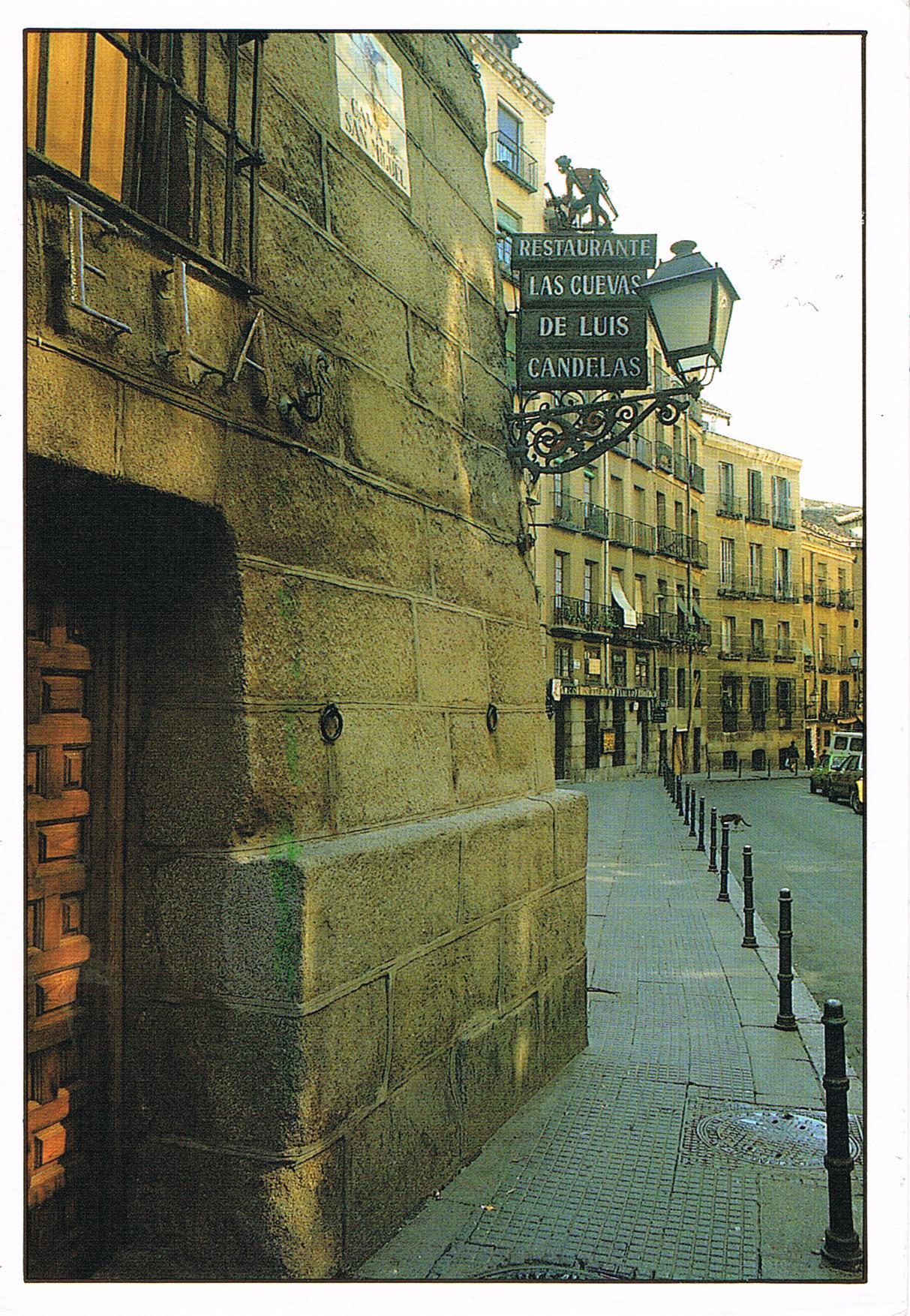 Typische Straße in Madrid