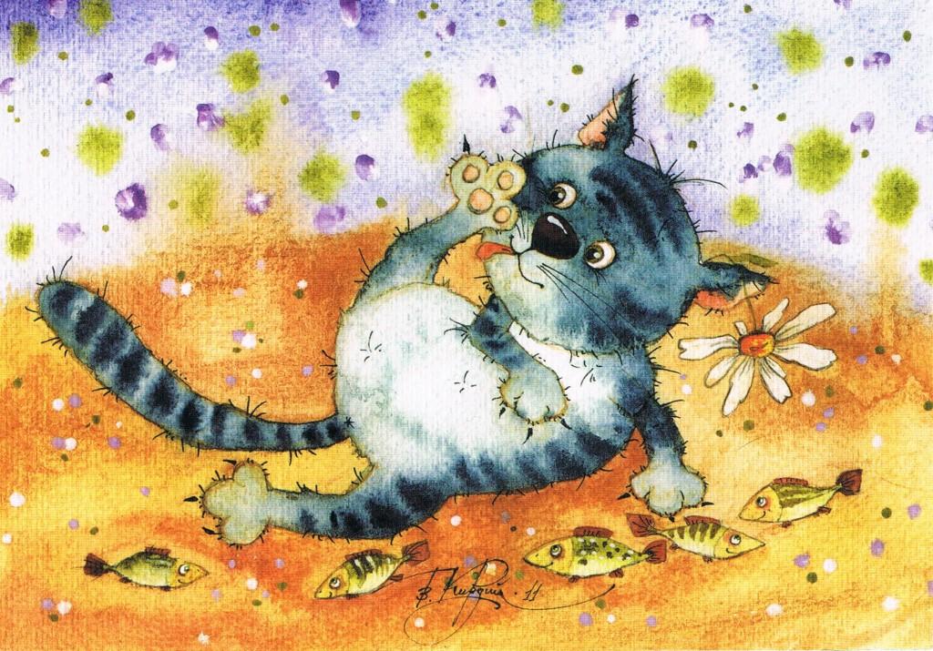 Katzenbild aus Smolensk (Russland)