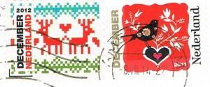 Briefmarken mit Weihnachtsmotiven aus den Niederlanden