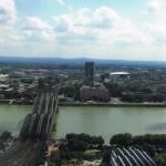 Blick vom Kölner Dom auf den Rhein