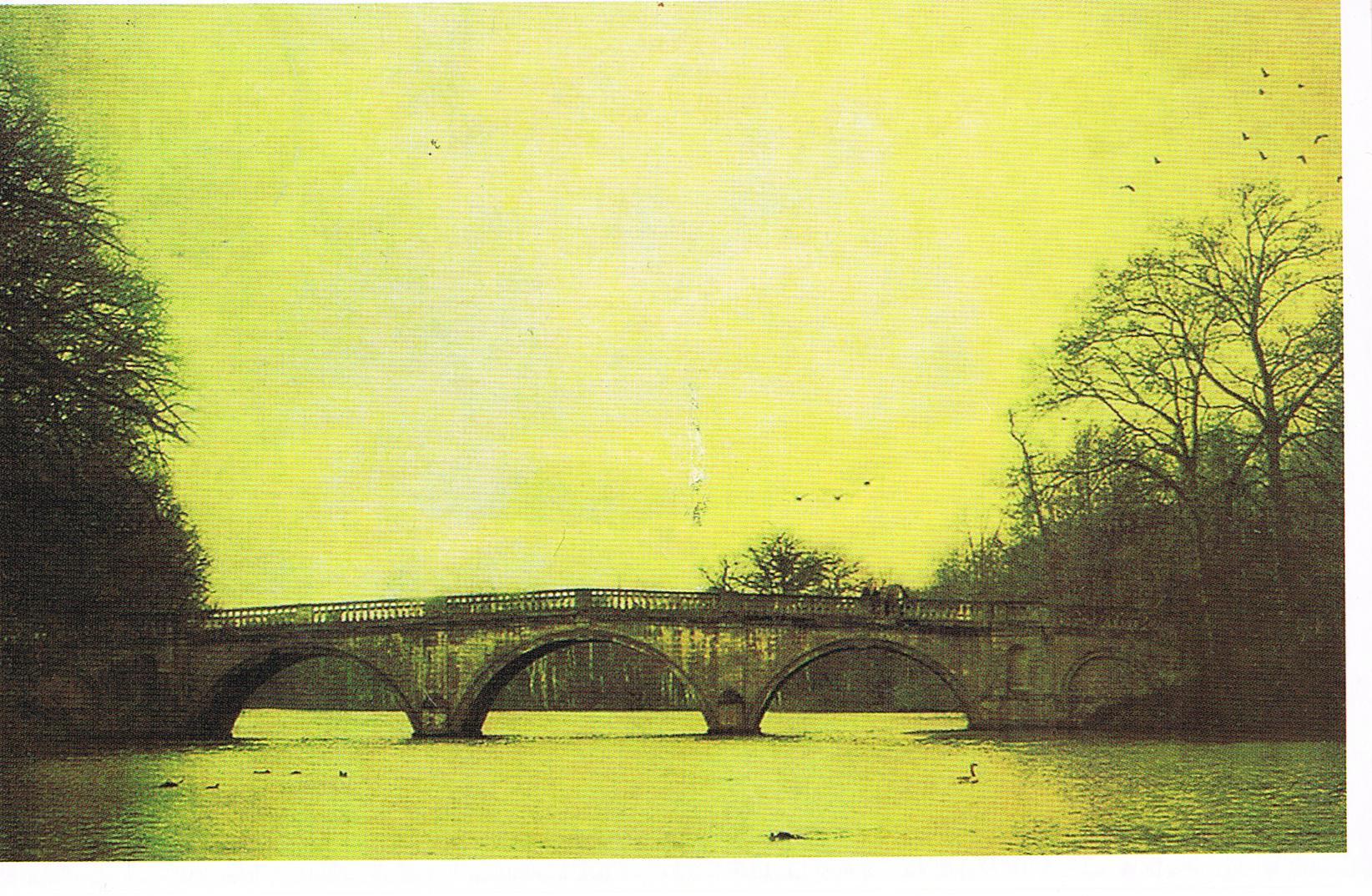 Postkarte mit Brückenmotiv