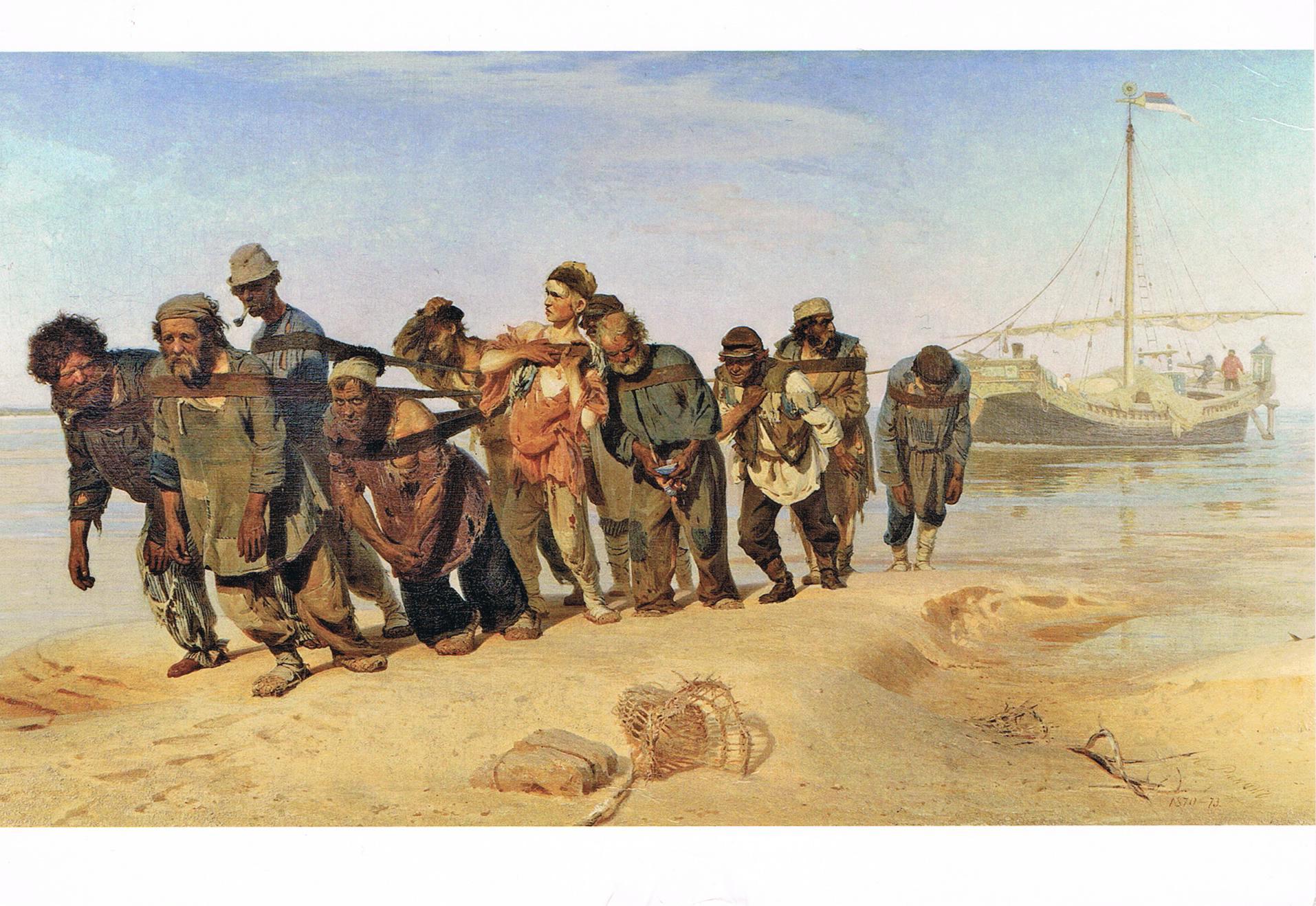 Die Wolgatreidler von Ilja Repin