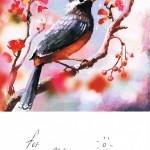 Postkarte mit Vogel aus Weißrussland