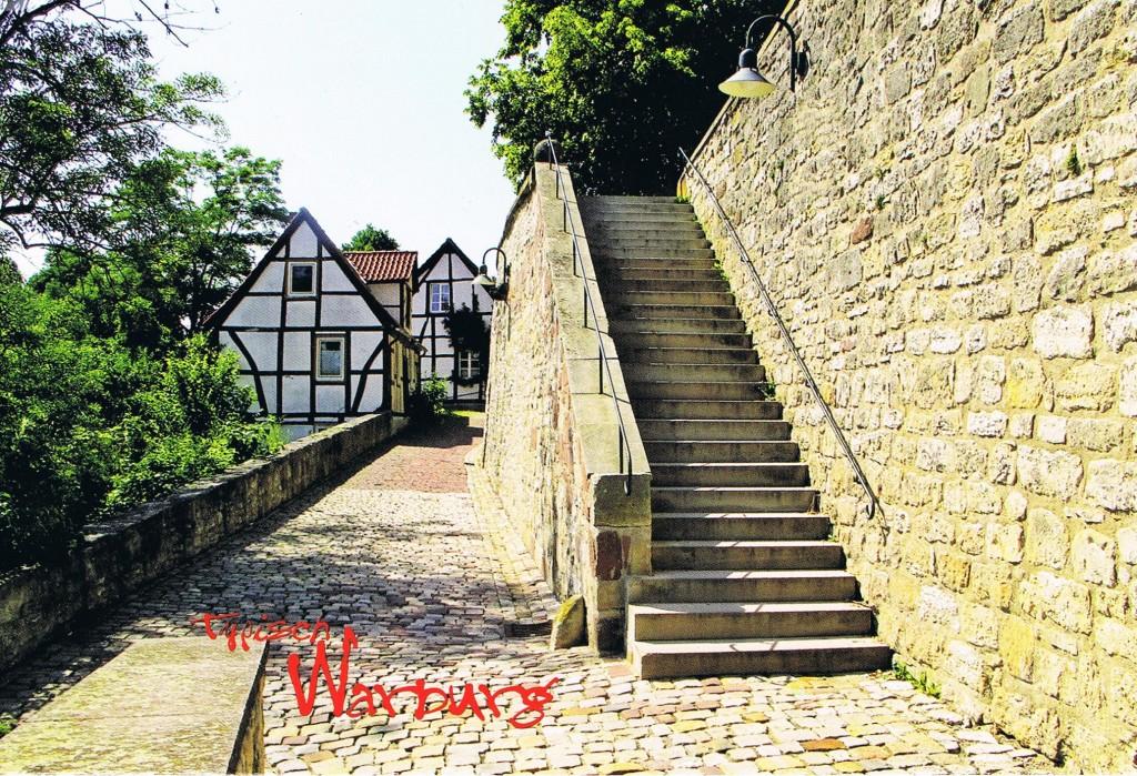 Typisch Warburg - Fachwerkhäuser an der alten Stadtmauer