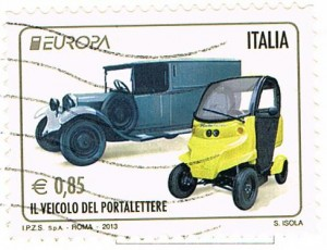 Postautos in Italien
