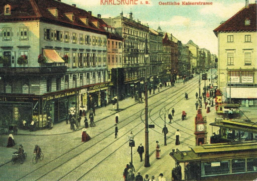 Östliche Kaiserstraße in Karlsruhe
