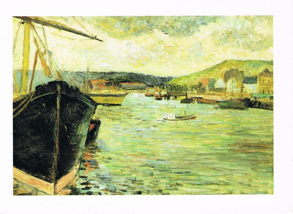 """""""Der Hafen von Rouen"""" von Paul Gauguin"""