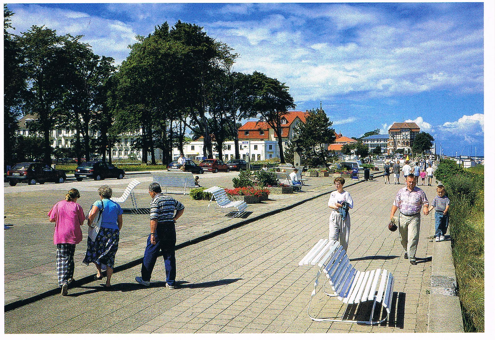 Die Promenade von Kühlungsborn West in Mecklenburg
