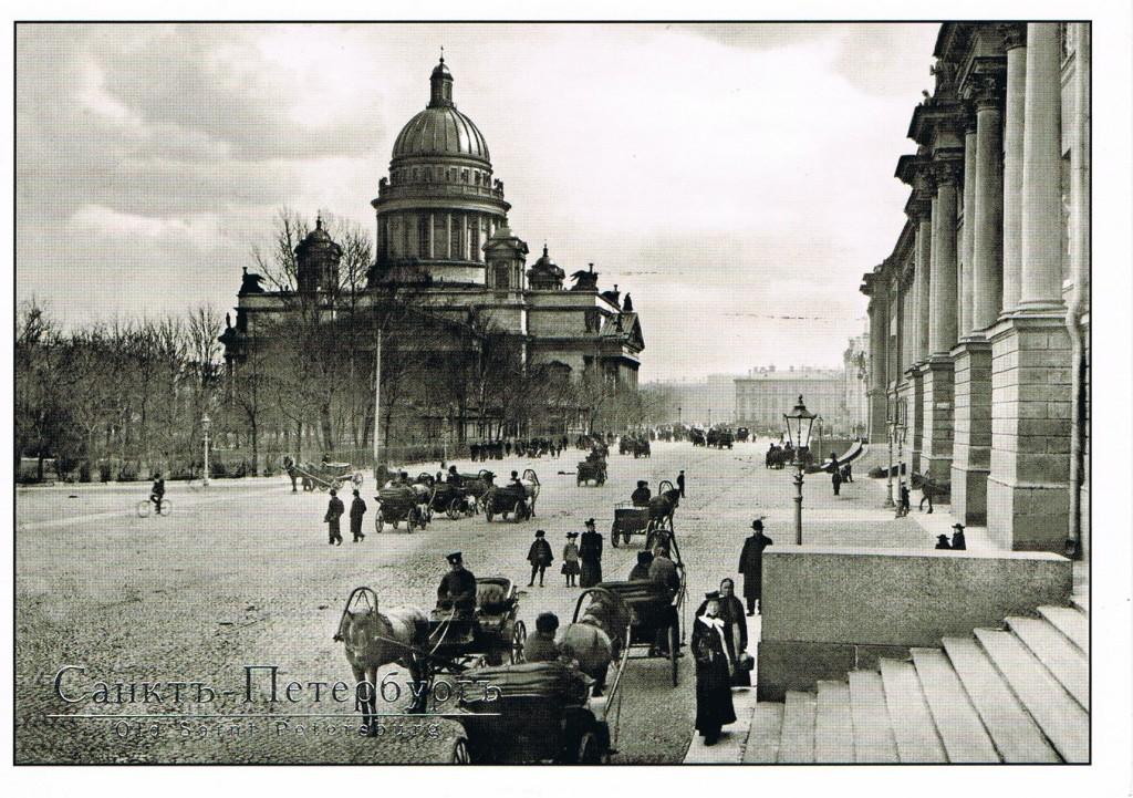 Blick auf die Isaakskathedrale um 1900