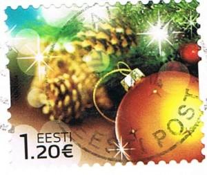 Weihnachtsmarke aus Estland