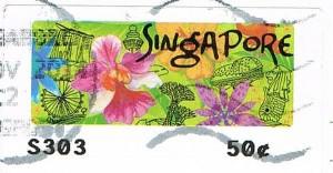 Briefmarke aus Singapur