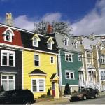 Bunte Häuser in St. John's auf Neufundland