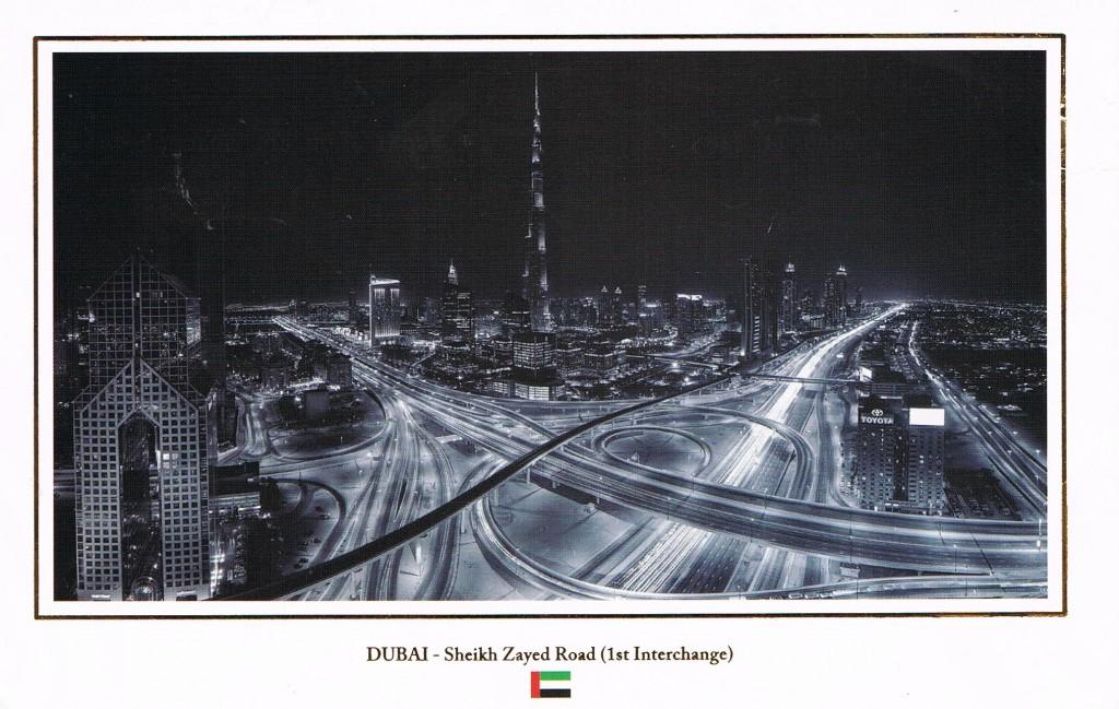 Burj Khalifa an der Sheikh Zayed Road in Dubai