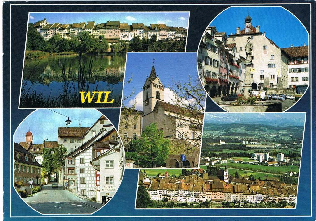 Ansichten aus Wil in der Schweiz