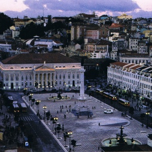Der Rossio, einer der wichtigsten Plätze in Lissabon