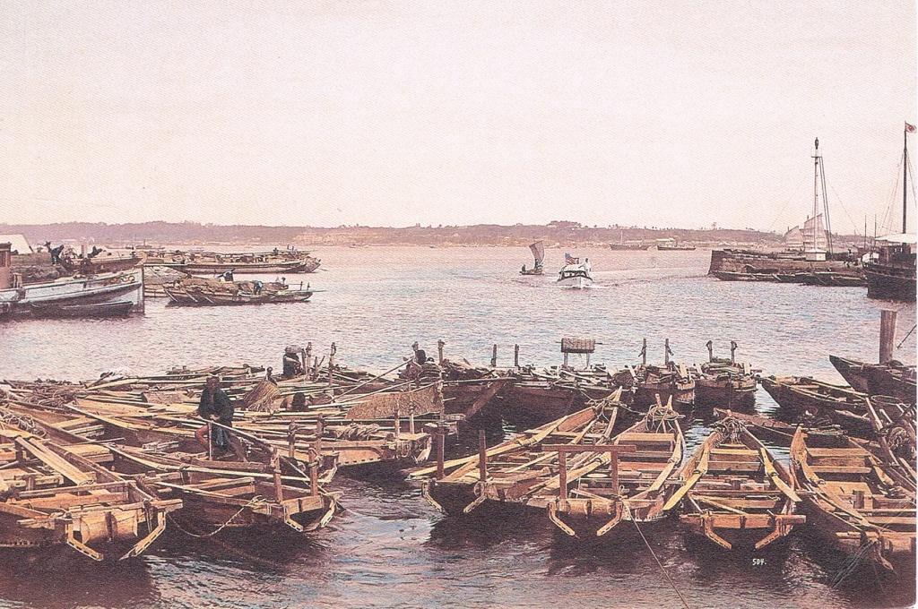 Der Hafen von Yokohama um 1900