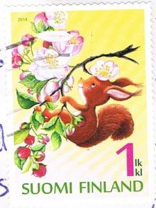 Briefmarke aus Finnland