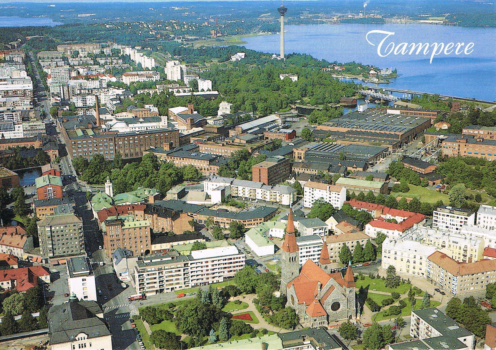 Luftaufnahme von Tampere