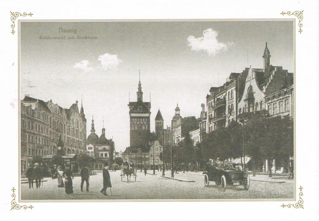 Der Stockturm am Kohlenmarkt in Danzig 1914