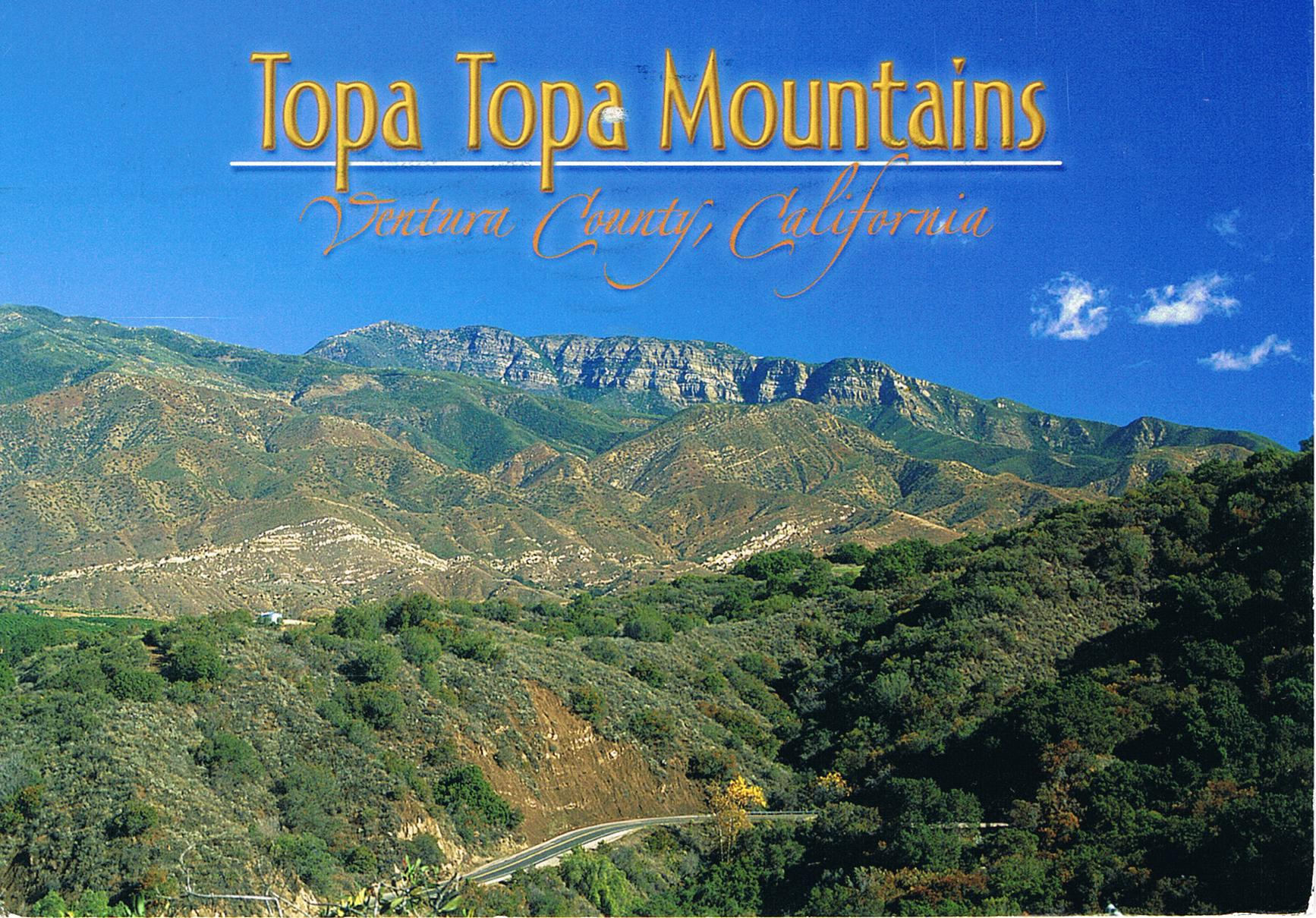 Topa Topa Mountains in Kalifornien, USA