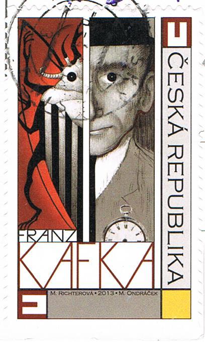 Franz Kafka auf einer Briefmarke aus Tschechien